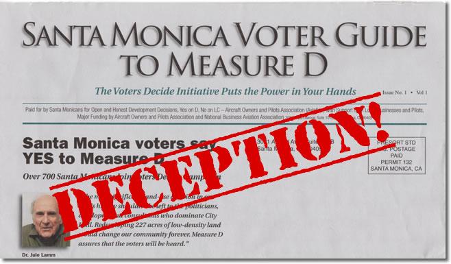 Measure D - Deceptive Mailer