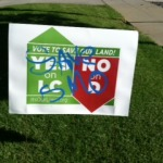 Measure D for Defacement - Vandalized Yard Sign