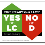 Print your own YES on LC, NO on D sign!