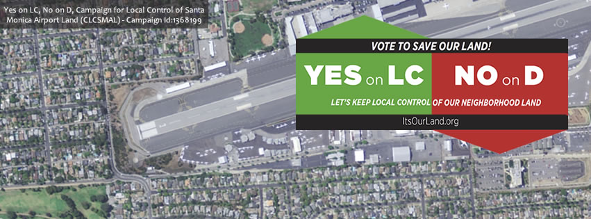 Yes on LC, No on D - Facebook Cover Photo